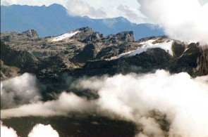 Carstensz Pyramid : Eternal Snow-capped mountain in the Tropics